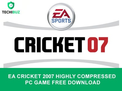 EA Cricket 2007 Highly Compressed PC Game Free Download